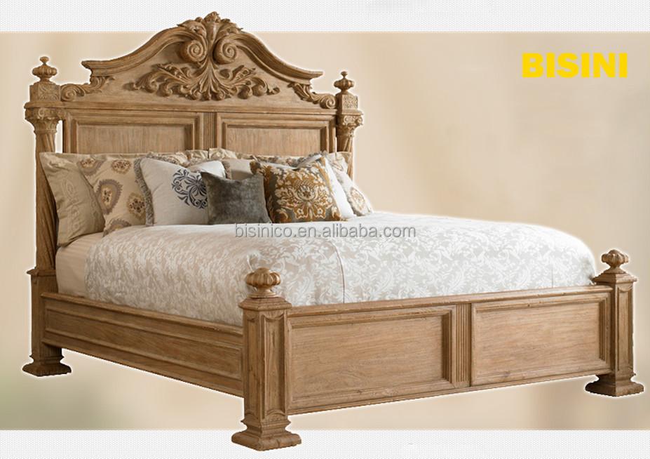 luxe espagnol colonial style renaissance lit r tro meubles de chambre coucher en bois king. Black Bedroom Furniture Sets. Home Design Ideas