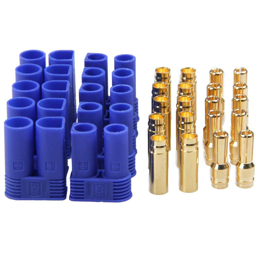 5 Pairs Male Female EC5 4mm Type Battery Connector Gold Bullet Plug PTCT