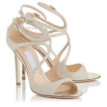 Лидер продаж; сандалии-гладиаторы на тонком каблуке с ремешками в стиле знаменитостей; модельные туфли на шпильках оранжевого, телесного, з...(Китай)