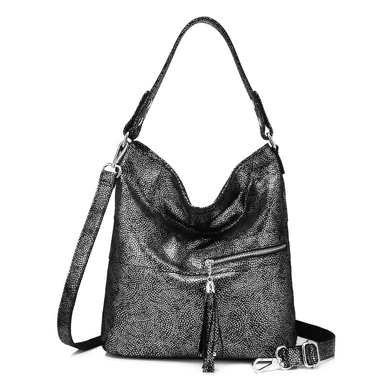 Realer сумка женская из натуральной кожи большая сумка через плечо для женщин высокого качества кожаная сумка хобо для женщин на плечо с кисто...(Китай)
