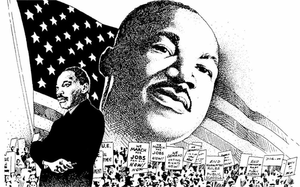 MARTIN LUTHER KING JR negro <font><b>african</b></font> american civil rights political poster 4 Sizes <font><b>Home</b></font> <font><b>Decor</b></font> Canvas Poster Print