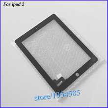 For iPad 2 Touch Screen Digitizer Glass for iPad2 Touch Panel  Black Color  + 3M Adhesive 13