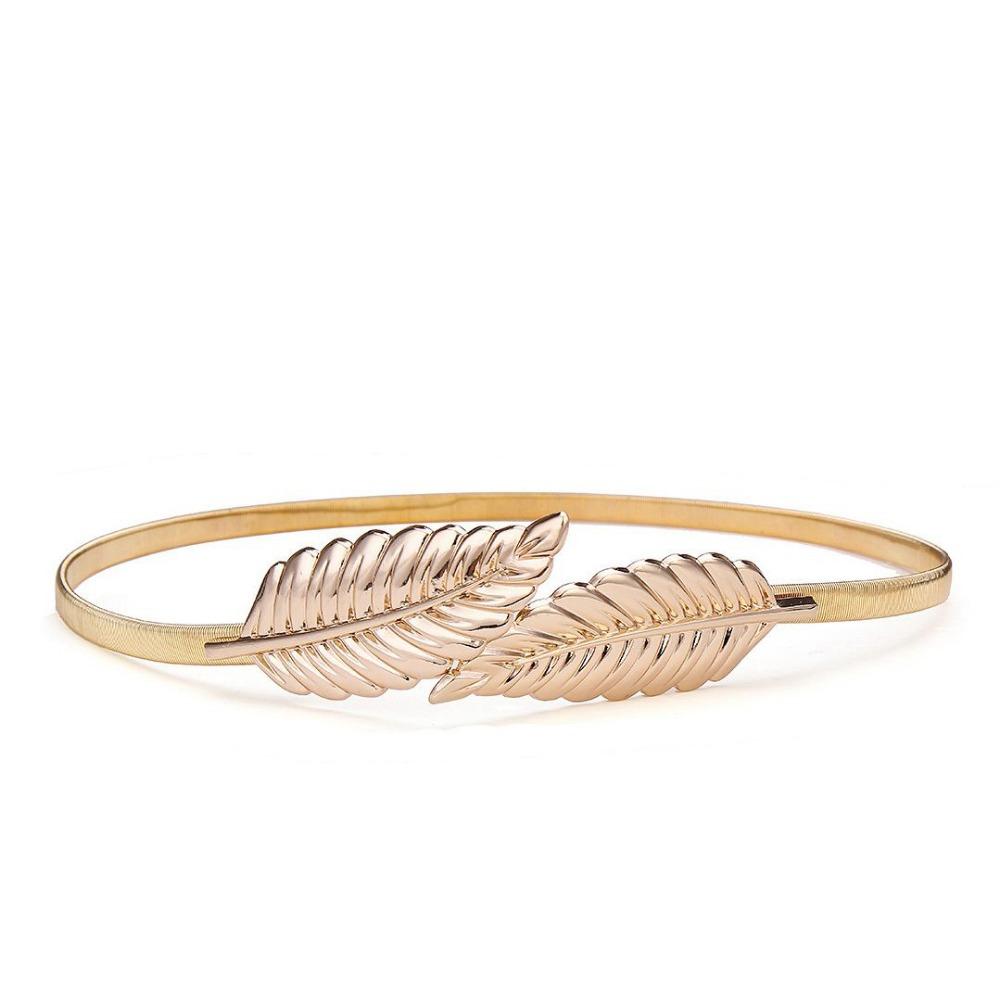 2015 Fashion New Stylish Elegant Womens Gold Metal Leaf ...