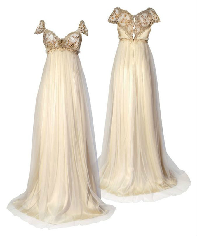 Classic Ivory Wedding Dresses: Free Shipping Ivory Colour Regency Styles From The 1800s