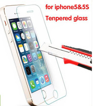 Ultra Thin 0.26mm 2.5D Premium Tempered Glass Screen Protector For iPhone 5 5S 5c HD Toughened Protective Film