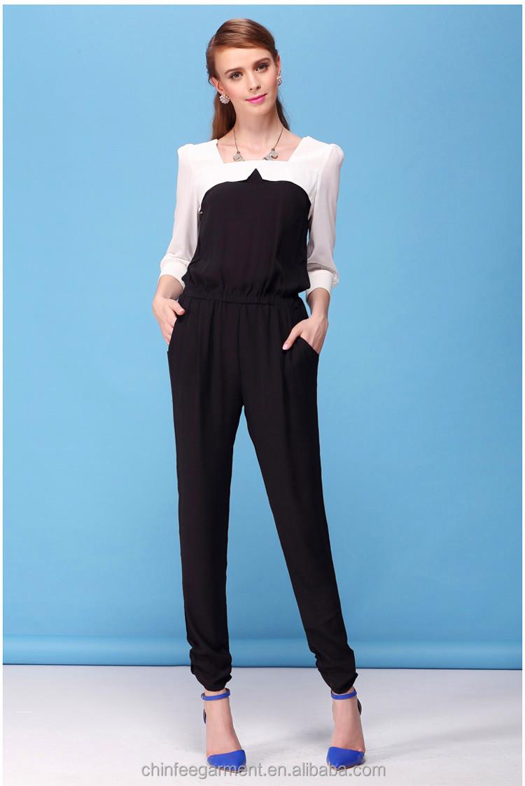 Designer fashion women jumpsuit lady formal jumpsuits ...