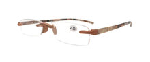 Очки для чтения без оправы, мужские и женские квадратные очки с гибкой тонкой оправой, без оправы, tr90, тонкое пресбиопическое стекло со свето...(China)