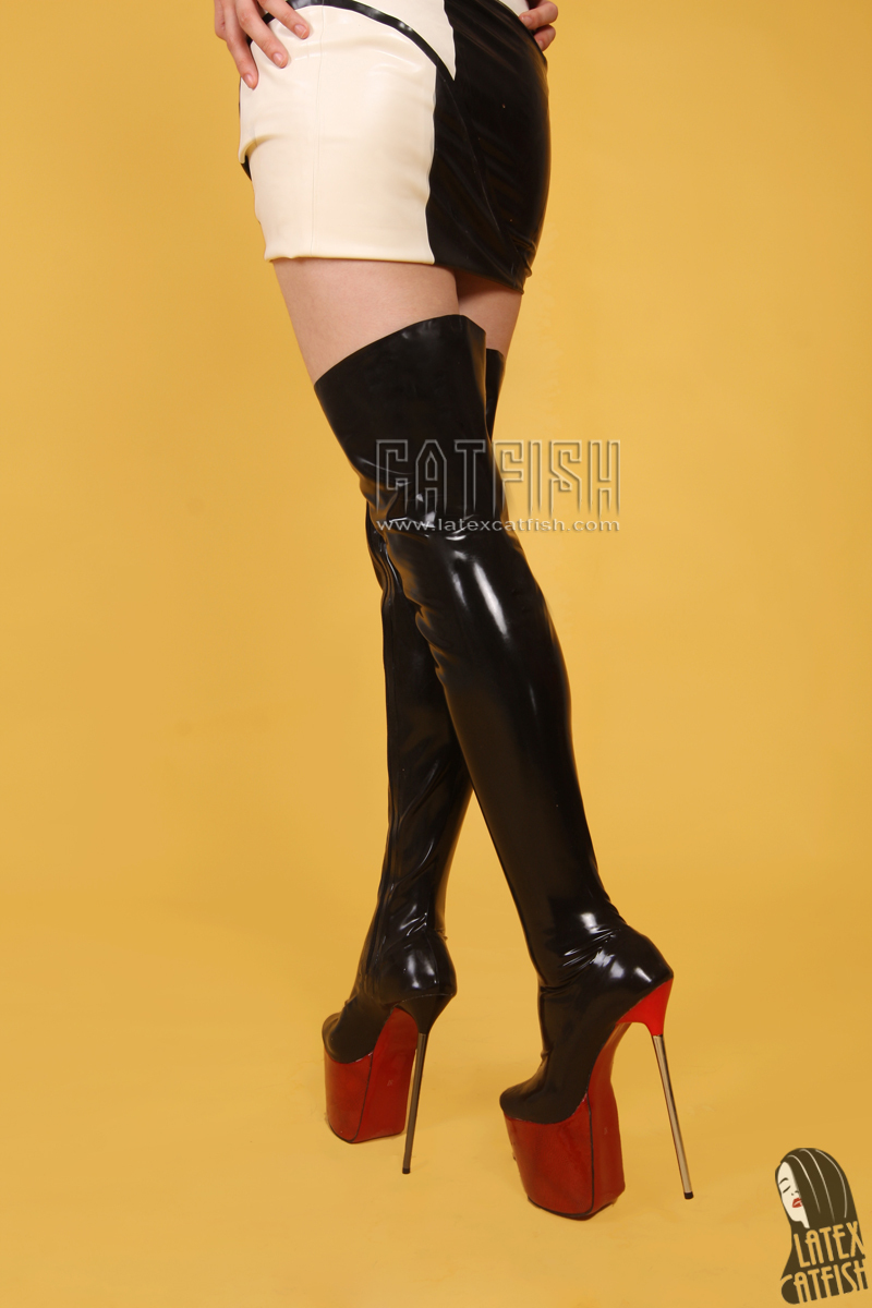 Pvc thigh boot fetish