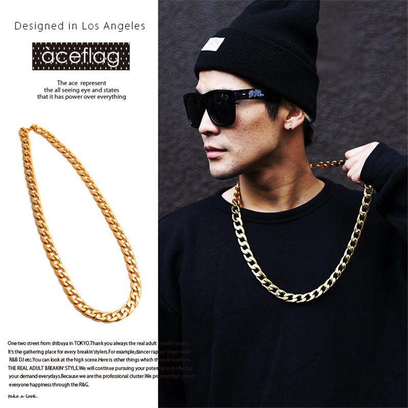 JS Women Hip Hop Gold Rapper Chain Neclace Men 18K Gold ...