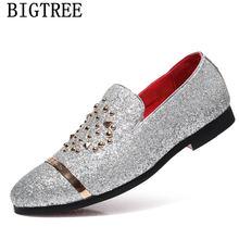 Итальянские модные блестящие Лоферы для мужчин; Новое поступление 2020 года; Coiffeur; Свадебные модельные туфли; Мужские элегантные вечерние кла...(Китай)