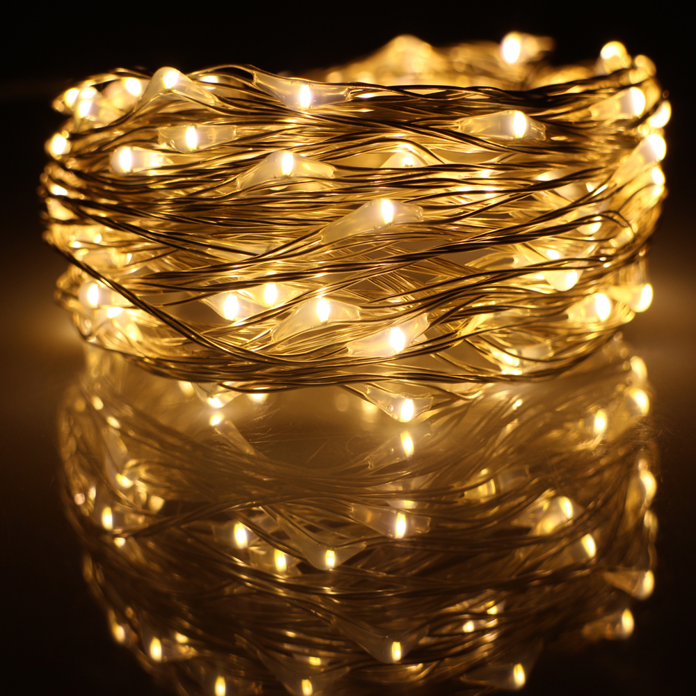Outdoor Lights String Led: 10M 33FT 100 Led USB Outdoor Led Silver Wire String Lights