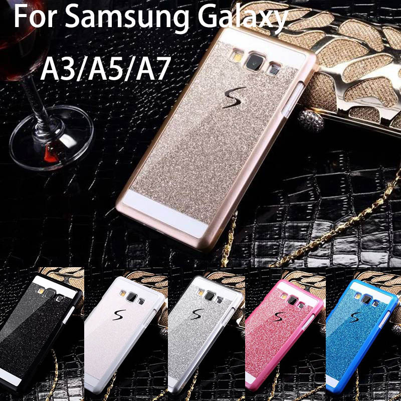 new product f9c84 9fd8f Bling Luxury phone case for Samsung Galaxy A3 A5 A7 Shinning back cover  Sparkling case for Galaxy A3000 A5000 A700 Free Shipping