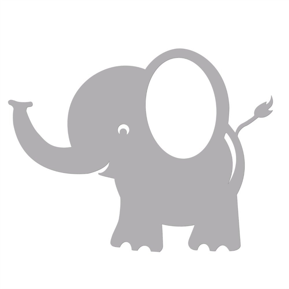 Bobee Baby Elephant Wall Decals For Kids Room Decor