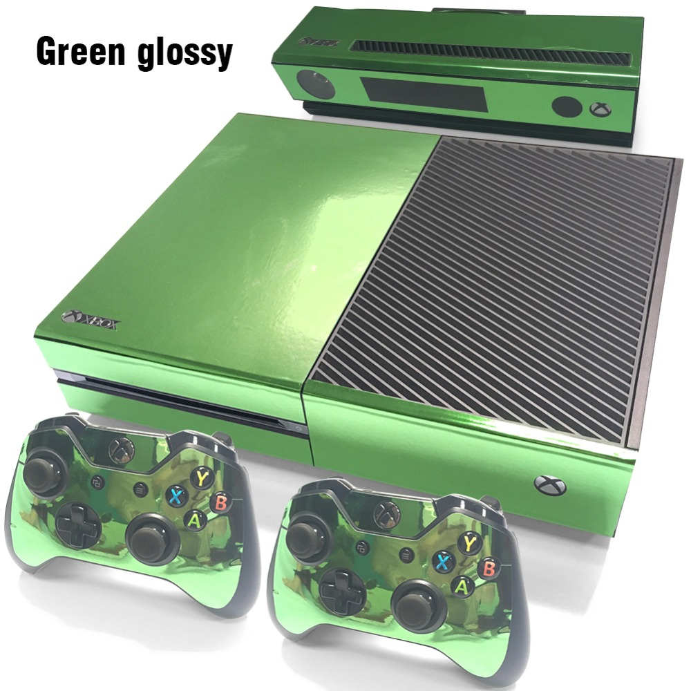 gold glossy sticker for xbox one vinyl sticker for xbox one console wireless adapter and. Black Bedroom Furniture Sets. Home Design Ideas