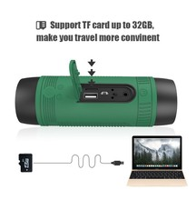 Good quality Zealot S1 Bluetooth power bank Speaker and 4000mah LED light for Outdoor Sport and 3IN 1 function