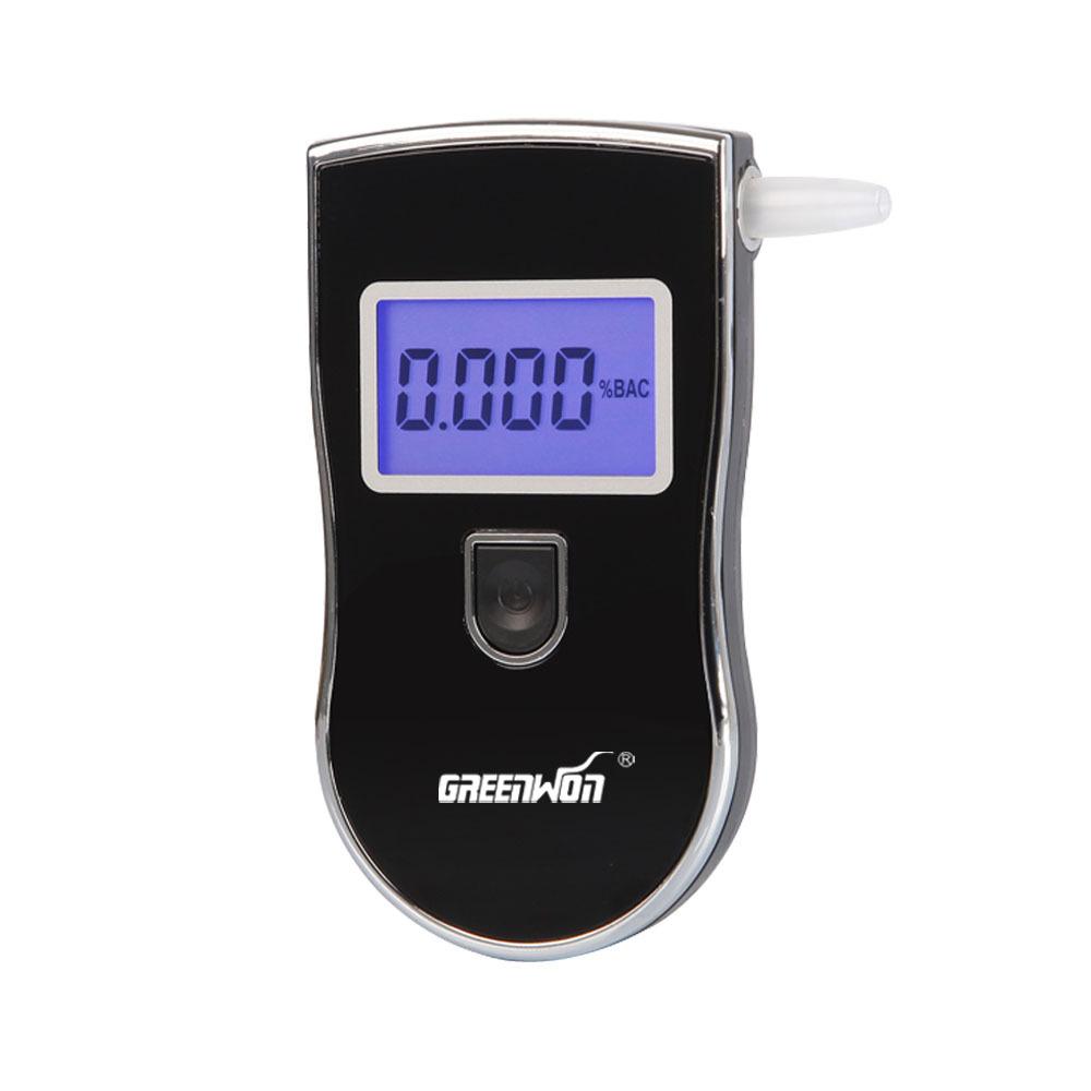 5 шт./лот 2015 патент портативный цифровой мини алкоголя в выдыхаемом воздухе тестер оптовая продажа тест алкотестер с 5 мундштук в AT818