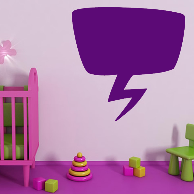 Pure Color Speech Bubble Lightening Wall Sticker Kids Bedroom Cute Home Decor PVC Decal Removable
