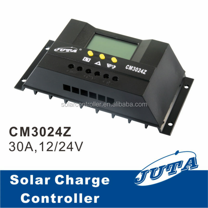 30a 12v 24v pwm solar charge controller with lcd display. Black Bedroom Furniture Sets. Home Design Ideas