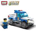 GUDI City Police Truck Car Blocks Toys Assembled Model Building Kits Blocks Toys Christmas Gift Toys