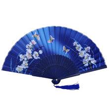 Традиционные китайские вентиляторы Бамбуковая ткань складной Ручной Веер вентиляторы ручные вентиляторы бамбуковые вентиляторы женские ...(China)