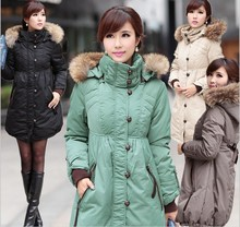 HOT SALE Fashion maternity clothing Maternity thick with hood down jacket for pregnant woman plus size