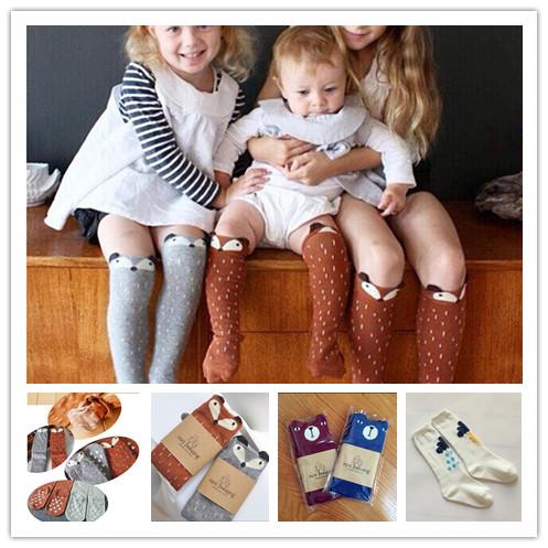 116cf75d6 Kids Socks Baby Toddler Girl Boy Knee High Fox Socks Bear Non Slip Socks  Medias de