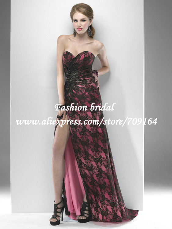 Costumes Free Shipping Red Black Lace Prom Dresses 2013 ... Lace Prom Dresses 2013