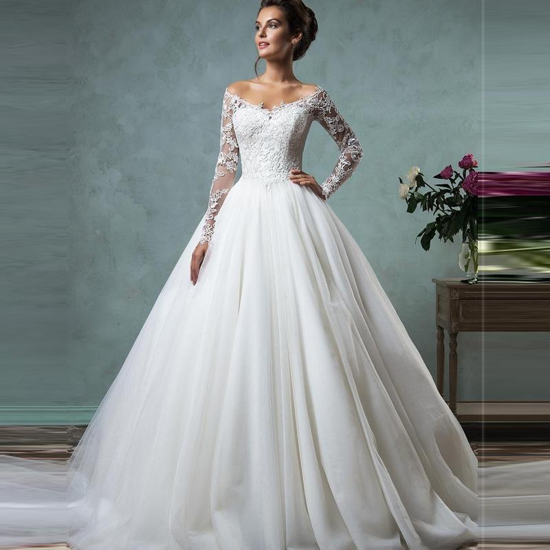 IM435 Romantic Ball Gown Wedding Dress 2016 Bride Dress