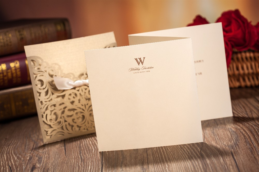 Cheap Customized Wedding Invitations: Wholesale 2015 New Free Envelop And Free Seal Elegant