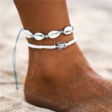 Женский винтажный браслет Bohimia Sea Turtles, Летний Пляжный браслет в стиле бохо с цепочкой для ног, ювелирные изделия, Прямая поставка(Китай)
