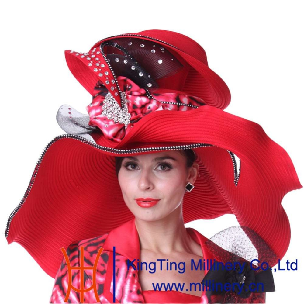 034ca14e Ladies wide brim church hats