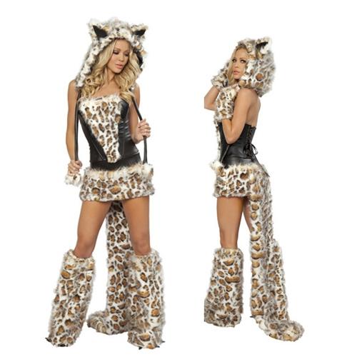 leopardenmuster katze frauen kost m flusen anzug erwachsene cosplay halloween kost me f r frauen. Black Bedroom Furniture Sets. Home Design Ideas