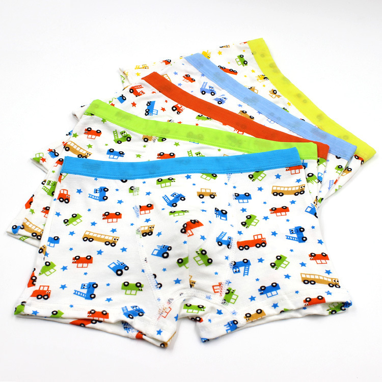 2015 New Boys Baby Modal Underwear Top Quality Car Cartoon Panties 2 to 7 Years Boxer