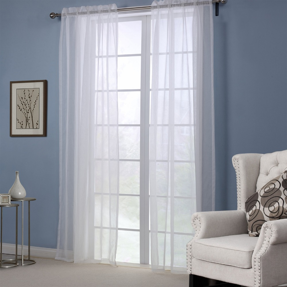 white solid curtains for windows modern style curtains for living room bedroom sheer curtain. Black Bedroom Furniture Sets. Home Design Ideas