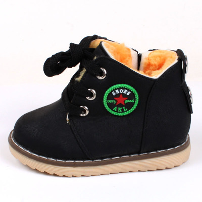 Hot selling 2016 fall winter baby waterproof soft bottom shoes baby warm cotton boots boy snow