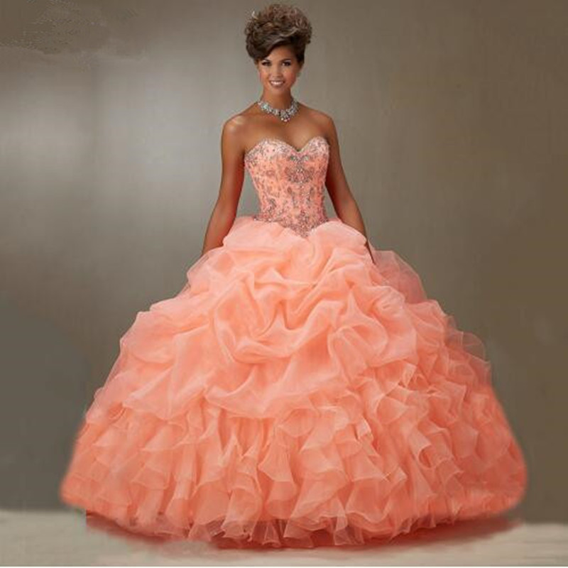 Online Buy Wholesale peach quinceanera dresses from China ...