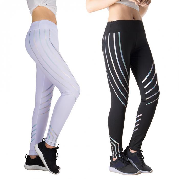 00a9d6491a93ba 2019 Women'S Yoga Leggings Glowing Pant High Waist Gym Sports ...