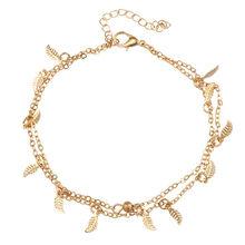 5 стилей новый богемный серебряный цвет женский ножной браслет для девушек популярный золотой цвет многослойный камень браслет ювелирные и...(Китай)