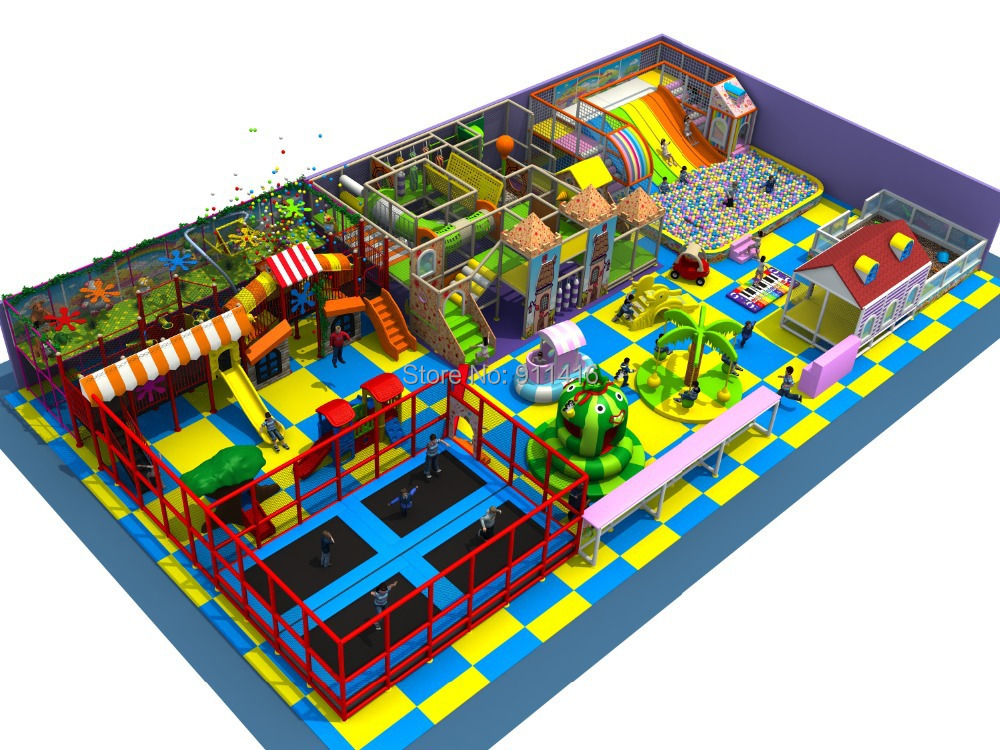 naughty castle indoor playground and trampoline park cit 144b in playground from sports. Black Bedroom Furniture Sets. Home Design Ideas