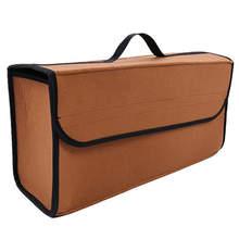 Органайзер для багажника, складная сумка из войлочной ткани для хранения внедорожников, переносная автомобильная коробка для хранения, баг...(Китай)