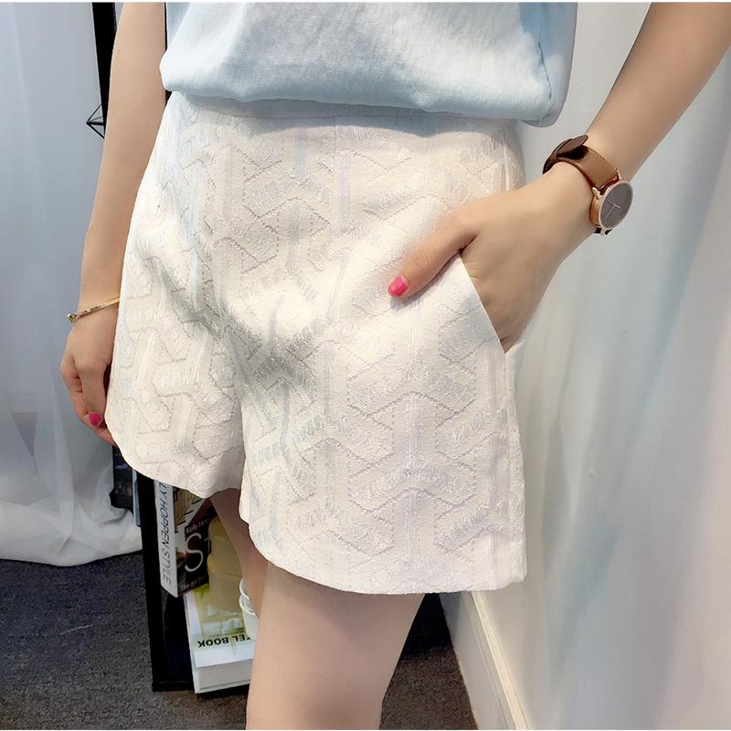 Мама зоны 2016 лето беременным шорты тонкий Большой размер высокая талия живот шорты вс-спички кружева основной мода брюки живот