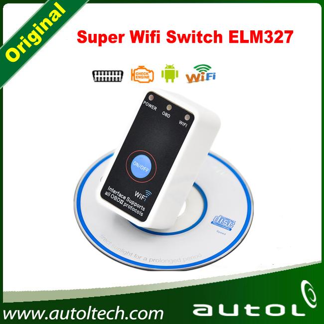 Последней версии переключатель wi-fi ELM327 OBD2 / OBDII ELM 327 автомобиля диагностический интерфейс для IOS iPhone , iPad бесплатная доставка