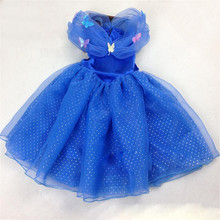 New Cinderella Kids Dress Retail Robe Princesse Enfant Girl Dress With Butterfly For Cinderella Cosplay Costume Fancy Dresses