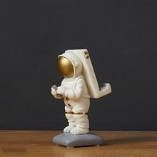 Скульптура космонавта из смолы, статуя космонавта, креативный держатель для телефона, модель космонавта, ручная работа, Настольный украшен...(Китай)