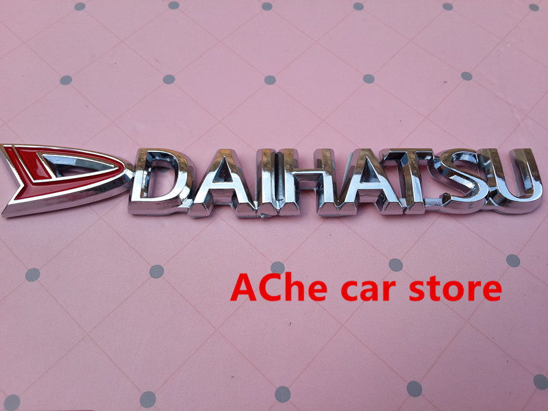 Free shippin Daihatsu logo 3D Chrome ABS car emblem Rear trunk Decals badge  sticker Decal Car styling Auto accessories