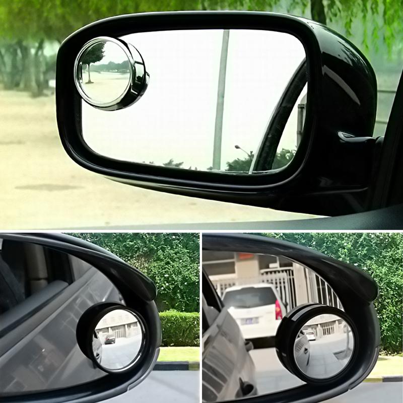 2 шт. авто сторона 360 широкий угол вокруг выпуклого зеркала автомобилей автомобиля слепое пятно мертвая зона зеркало зеркало заднего вида малых круглое