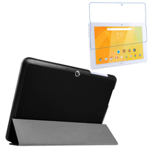 1x Clear Screen Protector , Luxury Ultra Slim Magnetic Folio Stand Leather Case Smart Cover For Acer Iconia One 10 B3-A20 B3 A20