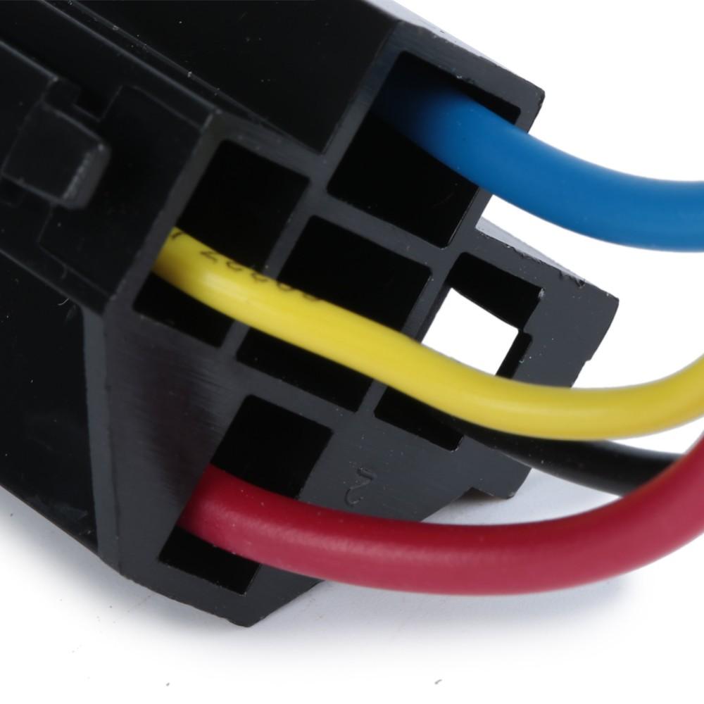 5 Pcs Car Relay Socket 12v 30a 40a 4 Prong 4 Wire Relay