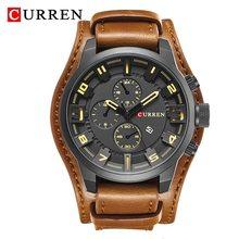 Часы CURREN 8225 мужские, спортивные, армейские, кварцевые, аналоговые, кожаные, наручные часы(Китай)