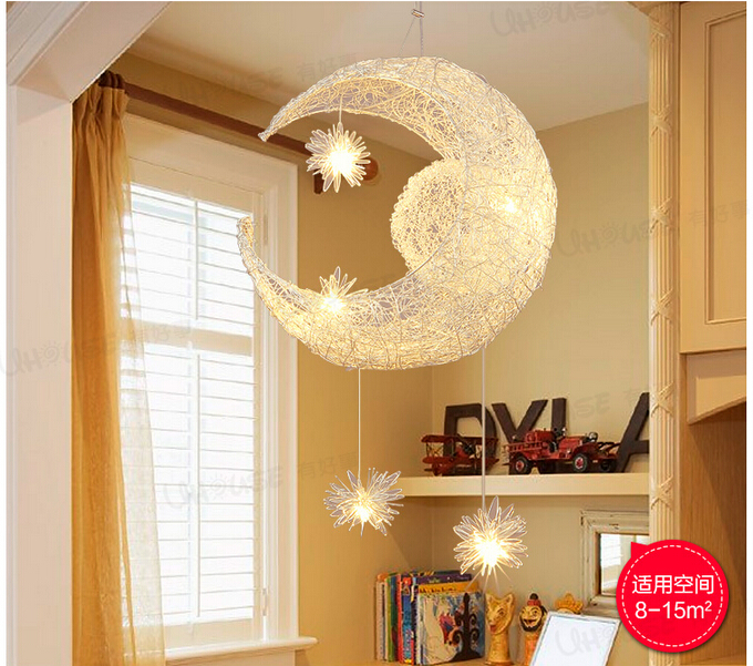 Moon Light For Bedroom: Free Shipping Newly Modern Moon Star LED Pendant Lamp For